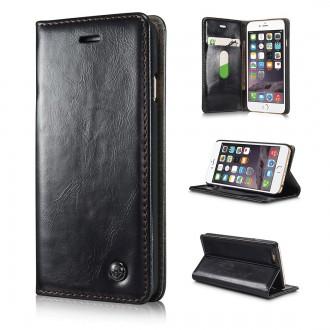 Etui iPhone 6 / 6S Portefeuille Noir- CaseMe