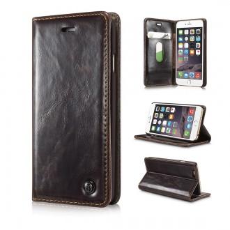 Etui iPhone 6 / 6S Portefeuille Marron - CaseMe