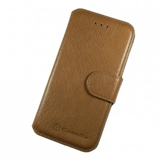 Etui Book type marron clair pour iPhone 6 Plus - CaseMe