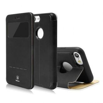 Etui iPhone 7 avec fenêtre de visualisation Noir- Baseus
