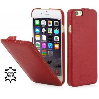 Etui iPhone 6 Plus ultraslim en cuir véritable rouge - Stilgut