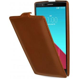 Etui LG G4 UltraSlim en cuir véritable cognac - Stilgut