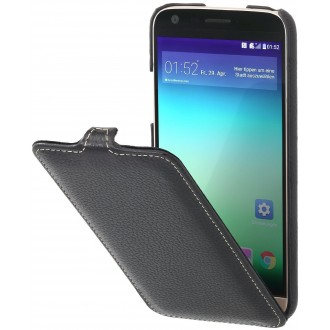 Etui LG G5 UltraSlim en cuir véritable noir - Stilgut