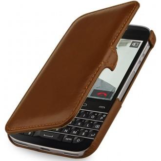 Etui Blackberry Classic Q20 UltraSlim en cuir véritable cognac - Stilgut