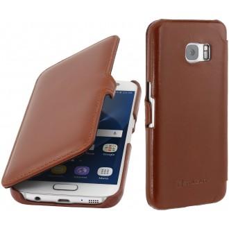 Etui Samsung Galaxy S7 en cuir véritable cognac - Stilgut