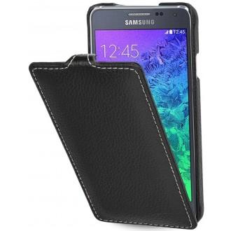 Etui Samsung Galaxy Alpha UltraSlim noir en cuir véritable - Stilgut