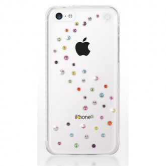 Coque iPhone 5C Milkyway Cotton Candy strass Swarovski - Bling My Thing