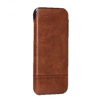 Housse iPhone 7 en cuir véritable marron - Sena Cases