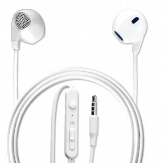 Écouteurs intra-auriculaires avec télécommande et micro blanc - 4smarts