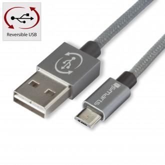 Câble USB vers Micro USB Gris 1 mètre 2A - 4smarts