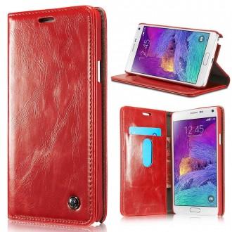 Etui Samsung Galaxy Note 4 Portefeuille Rouge - CaseMe