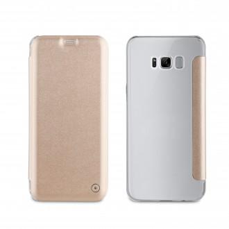 Etui Samsung Galaxy S8 Portefolio fin et élégant or - Muvit