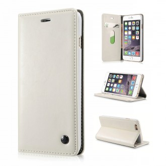 Etui iPhone 6 Plus Portefeuille Blanc - CaseMe