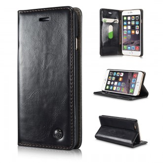 Etui iPhone 6 Plus Portefeuille Noir - CaseMe