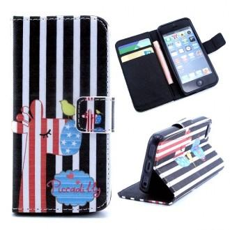 Etui iPhone SE / 5S / 5 porte cartes motif girafe - Crazy Kase