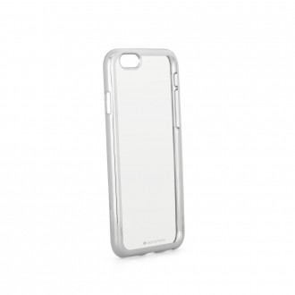 Coque iPhone 6S Plus / 6 Plus Transparente contour argenté - Goospery
