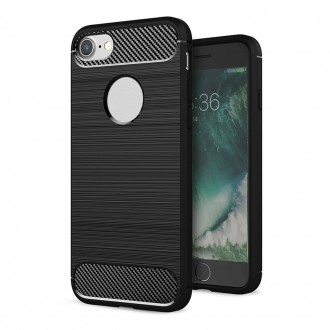 Coque iPhone 8 / iPhone 7 noir effet carbone - Crazy Kase