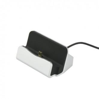 Station de charge smartphone Argenté connecteur Micro USB