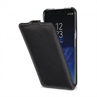 Etui Galaxy S8 Plus UltraSlim Noir en cuir véritable - Stilgut