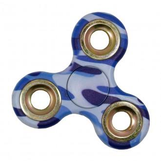 Hand Spinner motif Camouflage Bleu