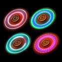 Hand Spinner Rouge Transparent à LED