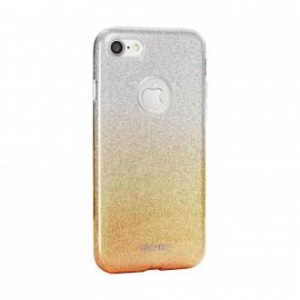 Coque iPhone 8 / iPhone 7 à paillettes dorées et argentées - Kaku