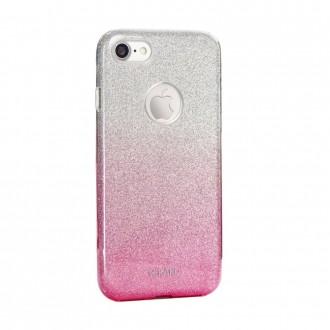 Coque iPhone 8 / iPhone 7 à paillettes roses et argentées - Kaku