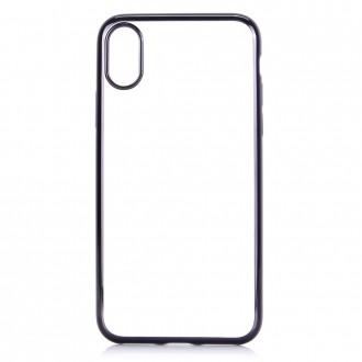 Coque iPhone X Transparente contour Noir - G-Case