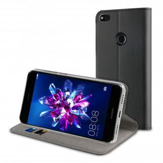 Etui Huawei P8 Lite 2017 Porte cartes Noir - Muvit