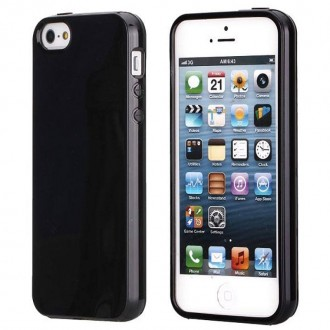 Coque iPhone SE / 5S / 5 Souple Noire brillante - Crazy Kase