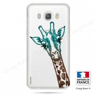 Coque Galaxy J5 (2016) Transparente et souple motif Tête de Girafe - Crazy Kase