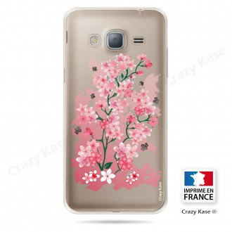 Coque Galaxy Grand Prime Transparente et souple motif Fleurs de Cerisier - Crazy Kase