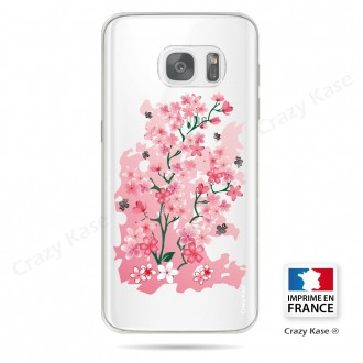 Coque Galaxy S7 Transparente et souple motif Fleurs de Cerisier - Crazy Kase