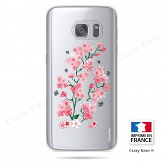 Coque Galaxy S7 Transparente et souple motif Fleurs de Sakura - Crazy Kase