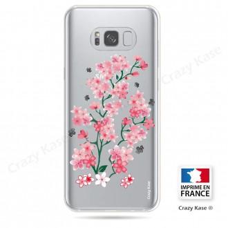 Coque Galaxy S8 Plus Transparente et souple motif Fleurs de Sakura - Crazy Kase
