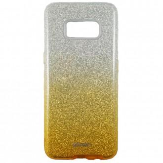 Coque Galaxy S8 Plus à paillettes dorées et argentées - Kaku