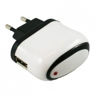 Chargeur secteur USB blanc et noir - Crazy Kase