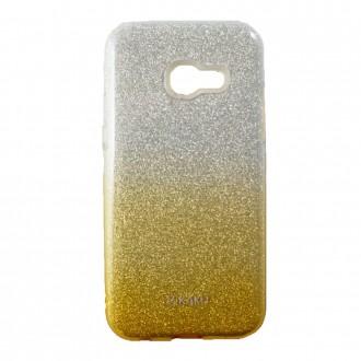 Coque Galaxy A3 (2017) à paillettes dorées et argentées - Kaku