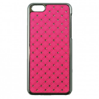 Coque iPhone 5C Rose fluo avec strass - Crazy Kase