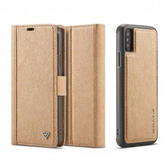 Etui iPhone X Porte-cartes marron - Whatif