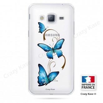 Coque Galaxy Core Prime souple motif Papillon sur Arabesque - Crazy Kase