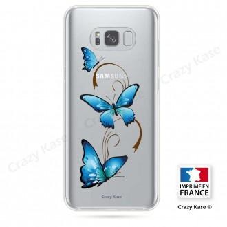 Coque Galaxy S8 Plus souple motif Papillon sur Arabesque - Crazy Kase