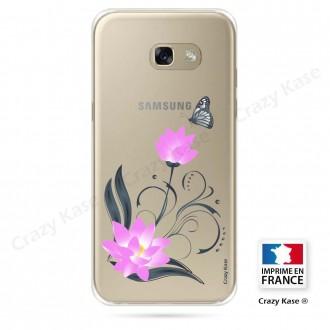 Coque Galaxy A3 (2016) souple motif Fleur de lotus et papillon- Crazy Kase