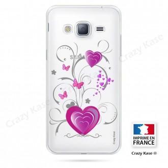 Coque Galaxy Core Prime souple motif Cœur et papillon - Crazy Kase