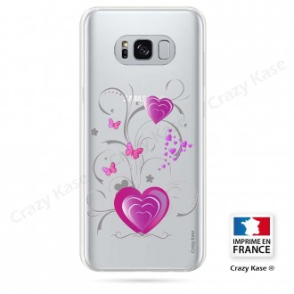 Coque Galaxy S8 souple motif Fleur de lotus et papillon- Crazy Kase