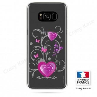 Coque Galaxy S8 Plus souple motif Cœur et papillon - Crazy Kase
