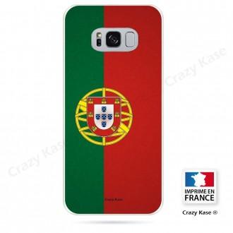 Coque Galaxy S8 Plus souple motif Drapeau Portugais - Crazy Kase