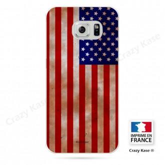 Coque Galaxy S6 Edge souple motif Drapeau Américain - Crazy Kase