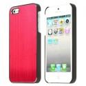 Coque aluminium brossé rouge pour iPhone 5