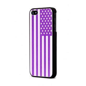 Coque Moxie Aluminium brossé fushia drapeau USA pour Apple iPhone 5
